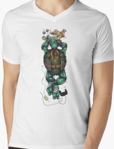 Life of a Teenage Turtle - Mikey Mens V-Neck T-Shirt