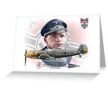 Hauptmann Helmut Wick Greeting Card