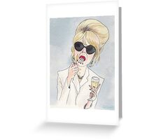 Patsy Stone of Absolutely Fabulous / Ab Fab Greeting Card
