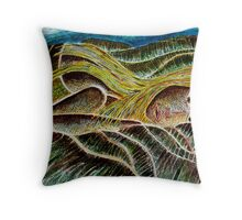 Girl in a Landscape Throw Pillow
