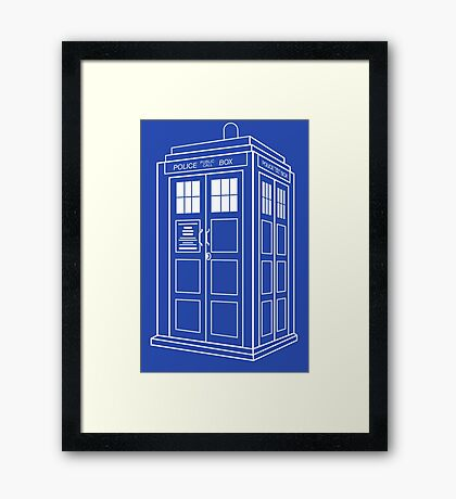Who Police Booth Framed Print