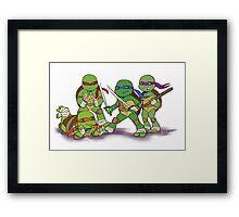 Little Mutant Ninja Turtles Framed Print