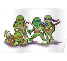 Little Mutant Ninja Turtles Poster