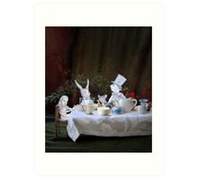 Alice in Wonderland/The Tea Party Art Print