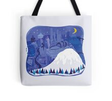 Seattle Cityscape with Mt. Rainier by Wendy Wahman Tote Bag