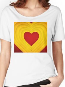 Red and yellow hearts Women's Relaxed Fit T-Shirt
