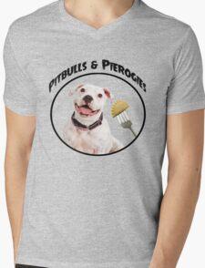 Pitbulls & Pierogies Mens V-Neck T-Shirt