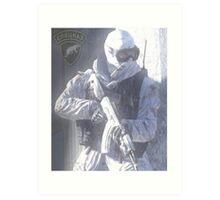 Spetsnaz - Snow Leopard Art Print