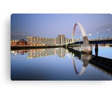 Glasgow Clyde Arc Reflection Canvas Print
