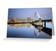 Glasgow Clyde Arc Reflection Greeting Card