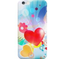 Red heart with angel wings iPhone Case/Skin