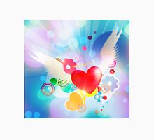 Red heart with angel wings T-Shirt