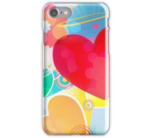 Red heart with angel wings 2 iPhone Case/Skin