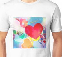 Red heart with angel wings 2 Unisex T-Shirt