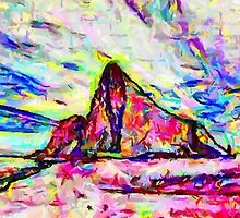 A Psychedelic Rock of Gibraltar by Dennis Melling