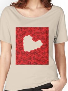Red roses in a heart shape Women's Relaxed Fit T-Shirt
