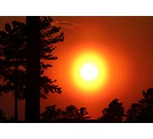 Very Colorful Sunset Photographic Print