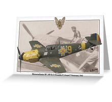 Messerschmitt Bf 109 E-3 Greeting Card