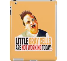 Hercule Poirot! little gray cells are not working today. iPad Case/Skin
