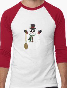 Snowman (2) Men's Baseball ¾ T-Shirt