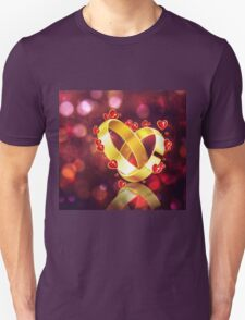 Romantic background with wedding rings T-Shirt