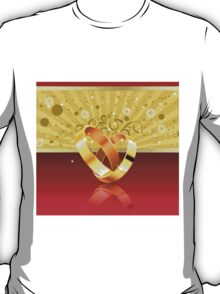 Romantic background with wedding rings 2 T-Shirt