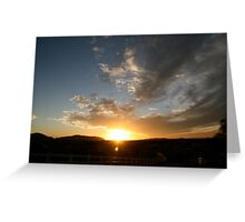 Sunset over Temecula Greeting Card