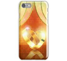 Romantic background with wedding rings 3 iPhone Case/Skin
