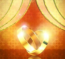 Romantic background with wedding rings 3 by AnnArtshock