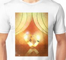 Romantic background with wedding rings 3 Unisex T-Shirt