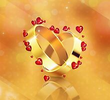 Romantic background with wedding rings 4 by AnnArtshock