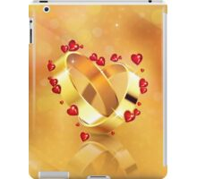 Romantic background with wedding rings 4 iPad Case/Skin