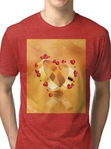 Romantic background with wedding rings 4 Tri-blend T-Shirt