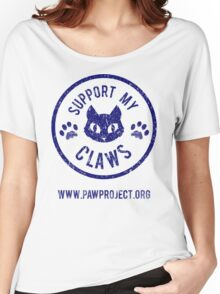 Support My Claws - The Paw Project Women's Relaxed Fit T-Shirt