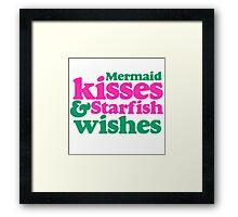 Mermaid kisses Framed Print