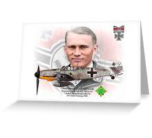 Oberleutnant Alfred Grislawski Greeting Card