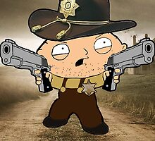 walking dead stewie by Populartease