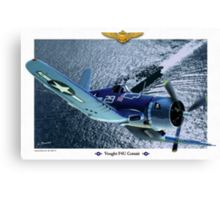 "Vought F4U ""Corsair"" Canvas Print"
