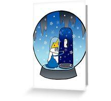 Poor Mr Ice King Greeting Card