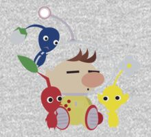 Olimar and Pikmin Vector Kids Clothes