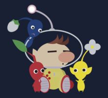 Olimar and Pikmin Vector One Piece - Long Sleeve