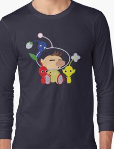 Olimar and Pikmin Vector Long Sleeve T-Shirt