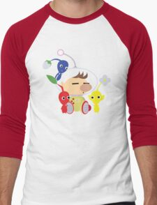 Olimar and Pikmin Vector Men's Baseball ¾ T-Shirt
