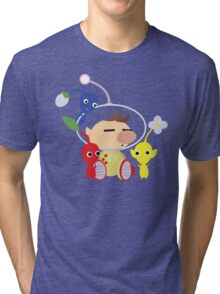 Olimar and Pikmin Vector Tri-blend T-Shirt