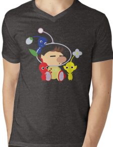 Olimar and Pikmin Vector Mens V-Neck T-Shirt