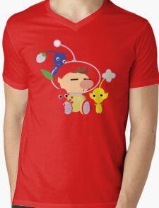 Olimar and Pikmin Vector Mens V-Neck T-Shirt
