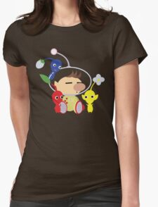 Olimar and Pikmin Vector Womens Fitted T-Shirt