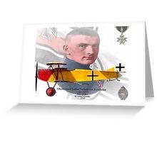 Oberleutnant Lothar Freiherr von Richthofen Greeting Card