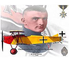 Oberleutnant Lothar Freiherr von Richthofen Photographic Print