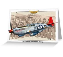 North American P-51 C Mustang - Tuskegee Greeting Card